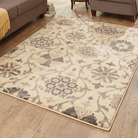 Better Homes And Gardens Cream Floral Vine Area Rug