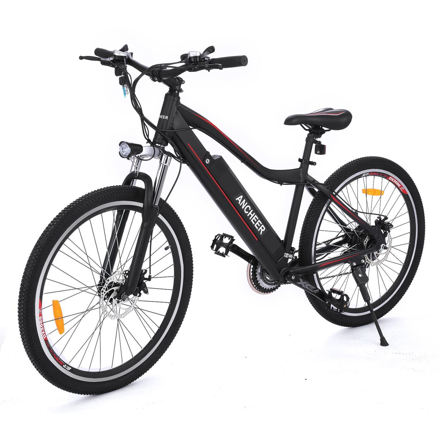"26"" Electric Mountain Bike Folding Aluminum Electric eBike Bicycle with Removable Lithium Battery (36V 12A) Black CCGE"