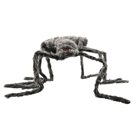 Sophisticated Halloween Decorations (Way to Celebrate Halloween Black Giant Hairy Spider Decoration (48)