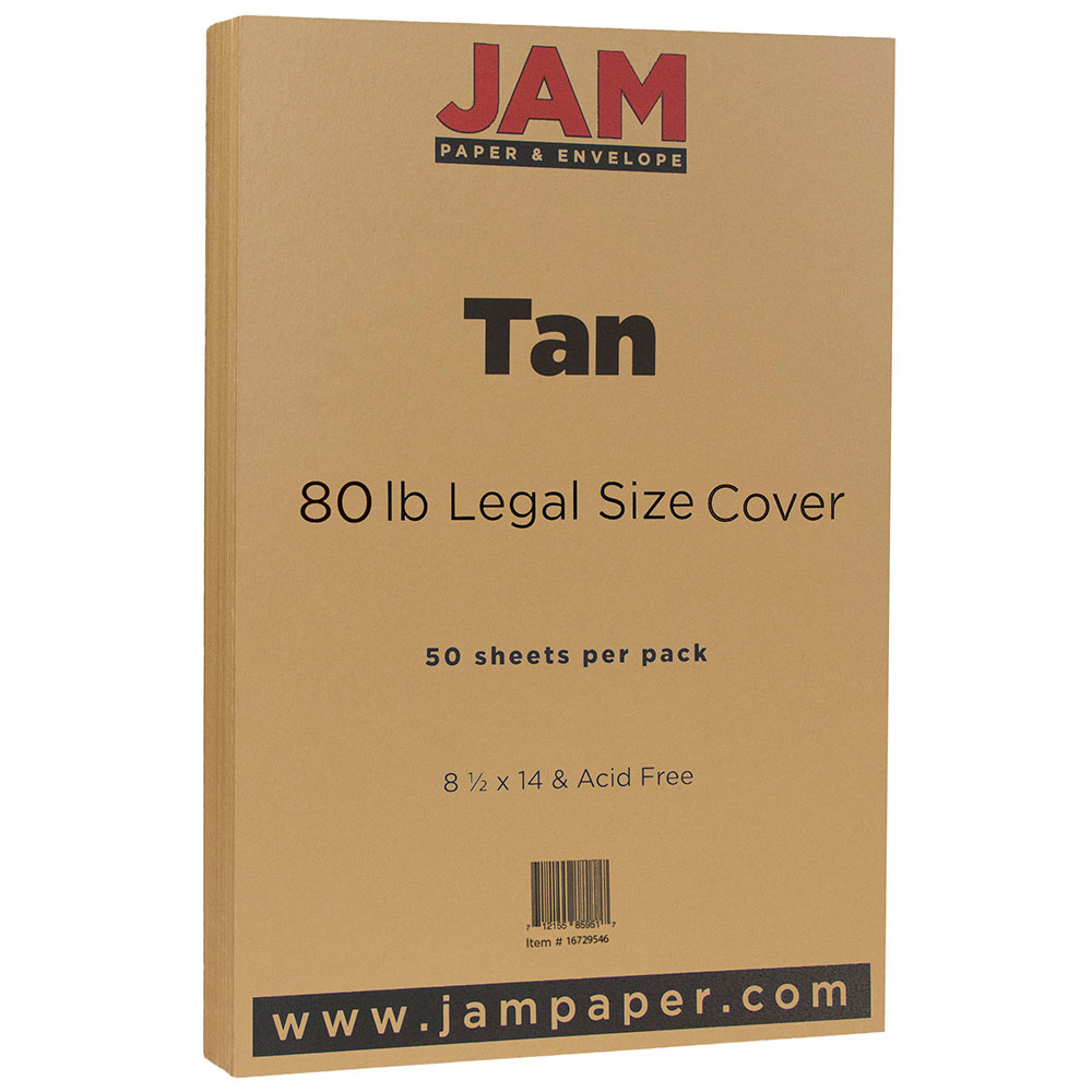 "JAM Paper 8-1/2"" x 14"" Cardstock, Legal Size, 80 lb Cover, Aqua, 50 Sheets per Pack"