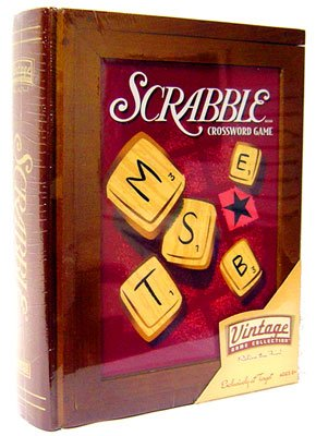 Parker Brothers Vintage Game Collection Wooden Book Box Scrabble by