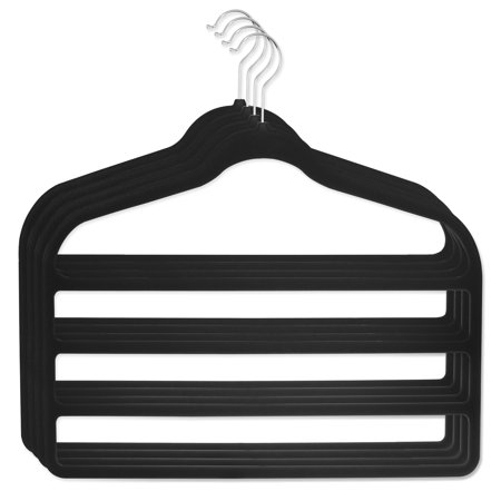 Reef Hanger - DG Sports 4 Pack Hangers for pants Bar Pants Velvet Hangers - Space Saving