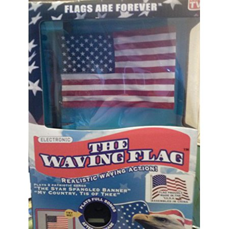 The Waving Flag Electronic Desktop American With 2 Patriotic S