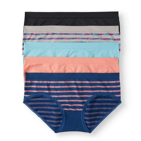 c68fa4638b67 No Boundaries - Juniors Seamless Hipster Panty, 5 pack - Walmart.com