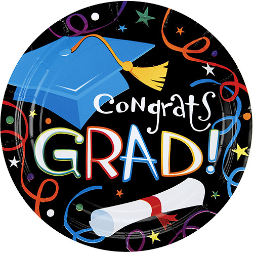7'' Graduation Luncheon Plates, 50-Pack
