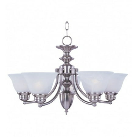 Maxim Lighting 2684FTSN Malaga Uplight Chandelier, Satin Nickel