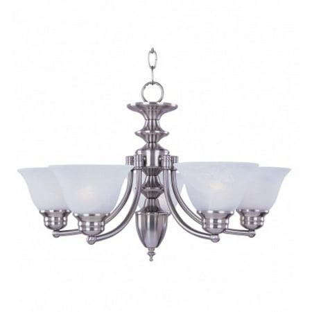 Maxim Lighting 2684FTSN Malaga Uplight Chandelier, Satin Nickel