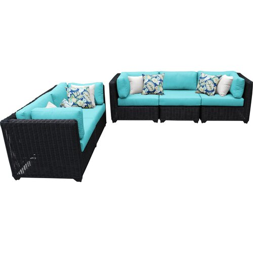 Sol 72 Outdoor Fairfield 5 Piece Sofa Seating Group with Cushions