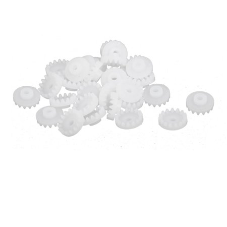 - 30PCS 15 Teeth 2mm Hole Diameter Plastic Gear Wheel for RC Toy Car