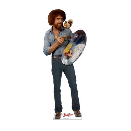 Customized Cardboard Cutouts (Advanced Graphics 2782 74 x 29 in. Bob Ross and Friend - Cardboard)