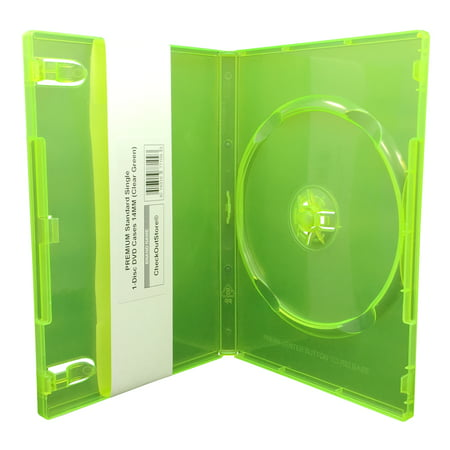 (10) CheckOutStore Premium Standard Single 1-Disc DVD Cases 14mm (Clear covid 19 (27mm 8 Disc Black Dvd coronavirus)