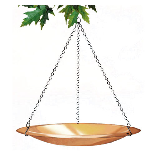Outdoor Seasons Copper Plated Bird Bath Or Bird Feeder