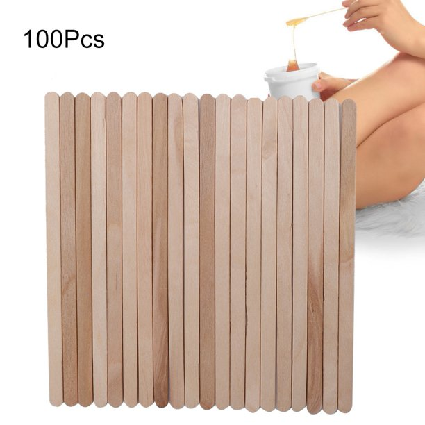Ylshrf Waxing Stick 100pcs Bag Disposable Wooden Depilatory Wax Applicator Stick Spatula Hair Removal Tools Wax Stick Walmart Com Walmart Com