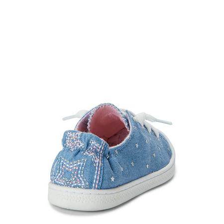 Wonder Nation Casual Bump Toe Sneaker (Little Girls & Big Girls)
