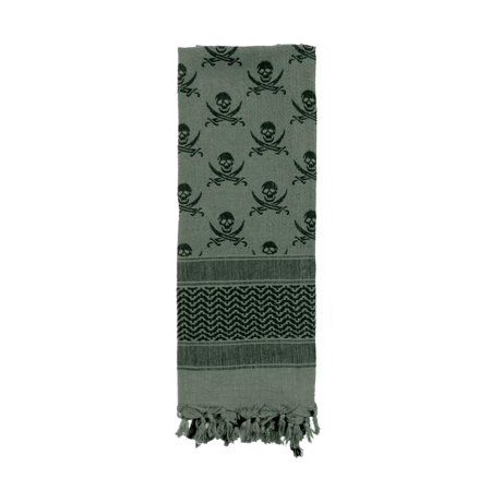 Shemagh Skulls and Crossed Swords Tactical Scarf