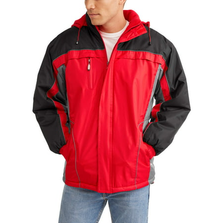 Climate Concepts Men's And Men's Big Polar Tech Fleece Lined Jacket With Removable Hood, Up To Size