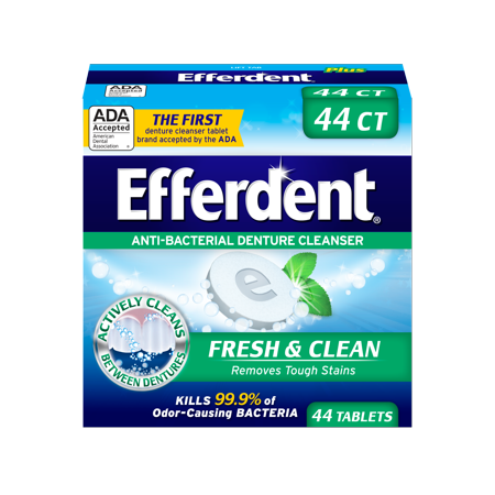 Efferdent Plus Mint Anti-Bacterial Denture Cleanser, 44 Tablets - Efferdent Plus Tab