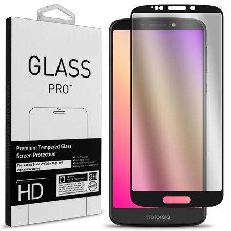 0f17cba78d04 CoverON Motorola Moto E5 Plus   Moto E5 Supra Tempered Glass Screen  Protector - InvisiGuard Series Full Coverage 9H with Faceplate (Case  Friendly) ...