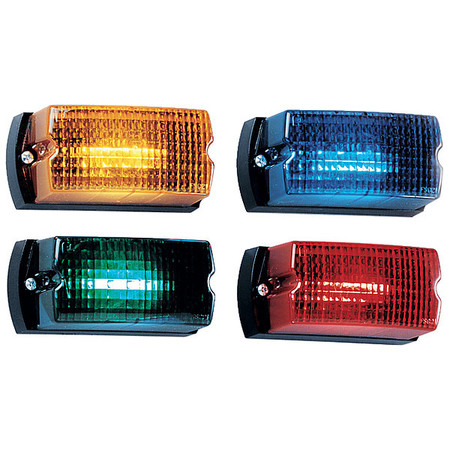 Warning Light,LED,Amber,Surface,Rect,5 L FEDERAL SIGNAL LP1-012A