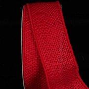 "Cheery Red Burlap Wired Craft Ribbon 2"" x 40 Yards"