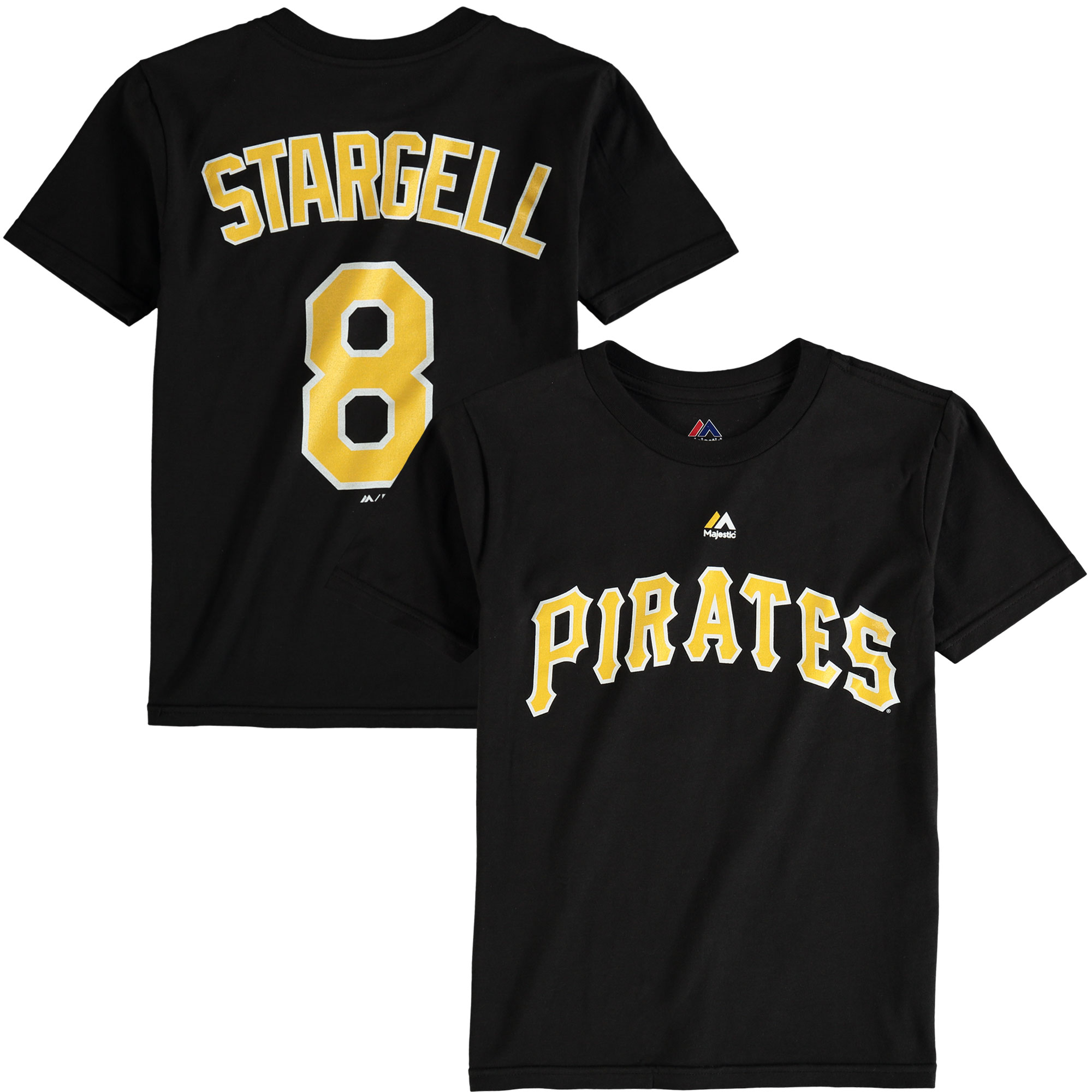 Willie Stargell Pittsburgh Pirates Majestic Youth Cooperstown Name & Number T-Shirt - Black