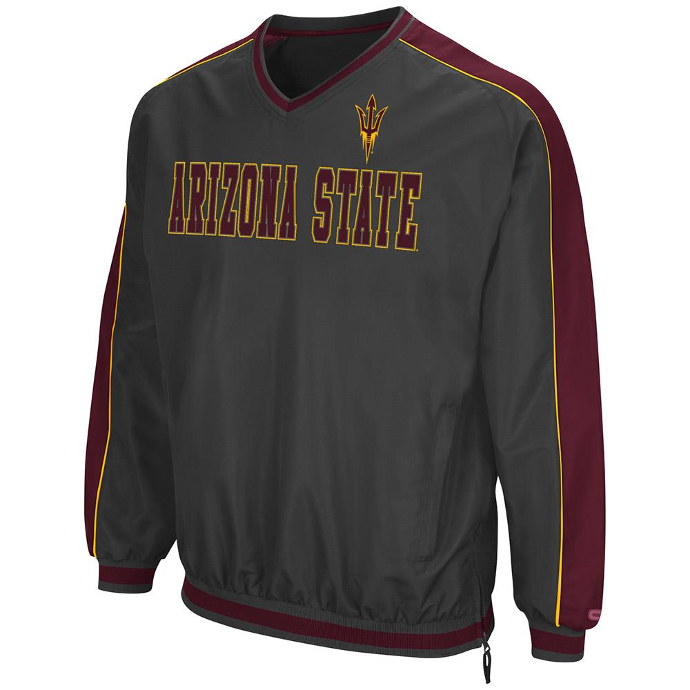 Mens Arizona State Sun Devils Attack Line Wind Breaker Jacket by Colosseum