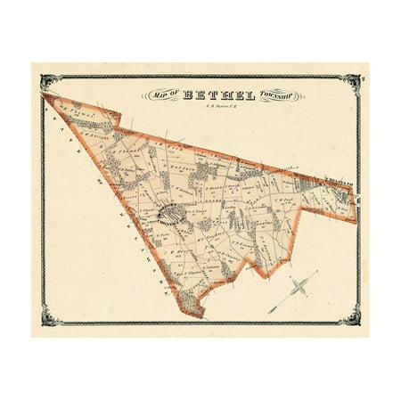 1875, Bethel Township, Booths Corners P.O., Chelsea P.O., Pennsylvania, United States Print Wall Art