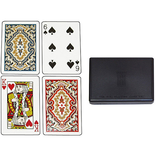 KEM Paisley Red and Blue, Bridge Size-Standard Index Playing Cards (Pack of 2)