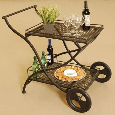 Laguna Ez Fold Wrought Iron Serving Cart