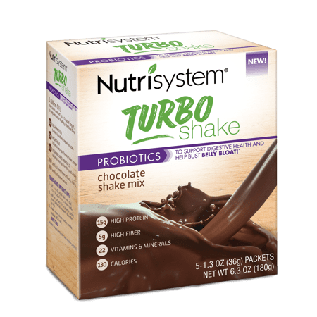 (2 Pack) Nutrisystem Turbo Chocolate Shake Mix, 1.4 Oz, 20