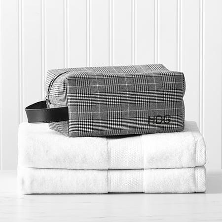 Burberry Plaid Handbag (Personalized Glen Plaid Dopp Kit )
