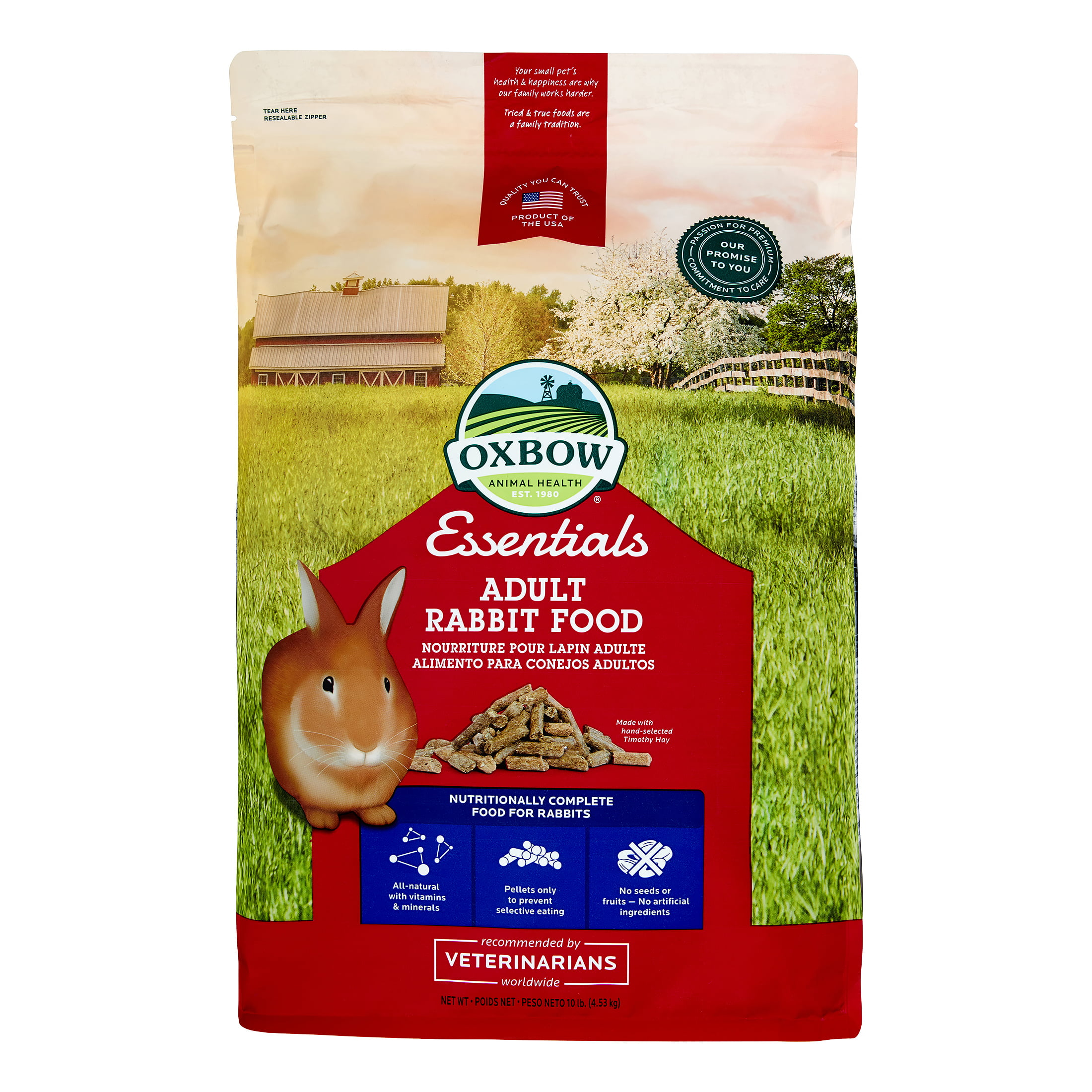Oxbow Pet Products Essentials Adult Dry Rabbit Food, 25 lbs. by Mars Petcare