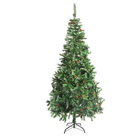 f6277d49436 The Holiday Aisle 9  Green Pine Artificial Christmas Tree with Pine Cones  and Stand - Walmart.com