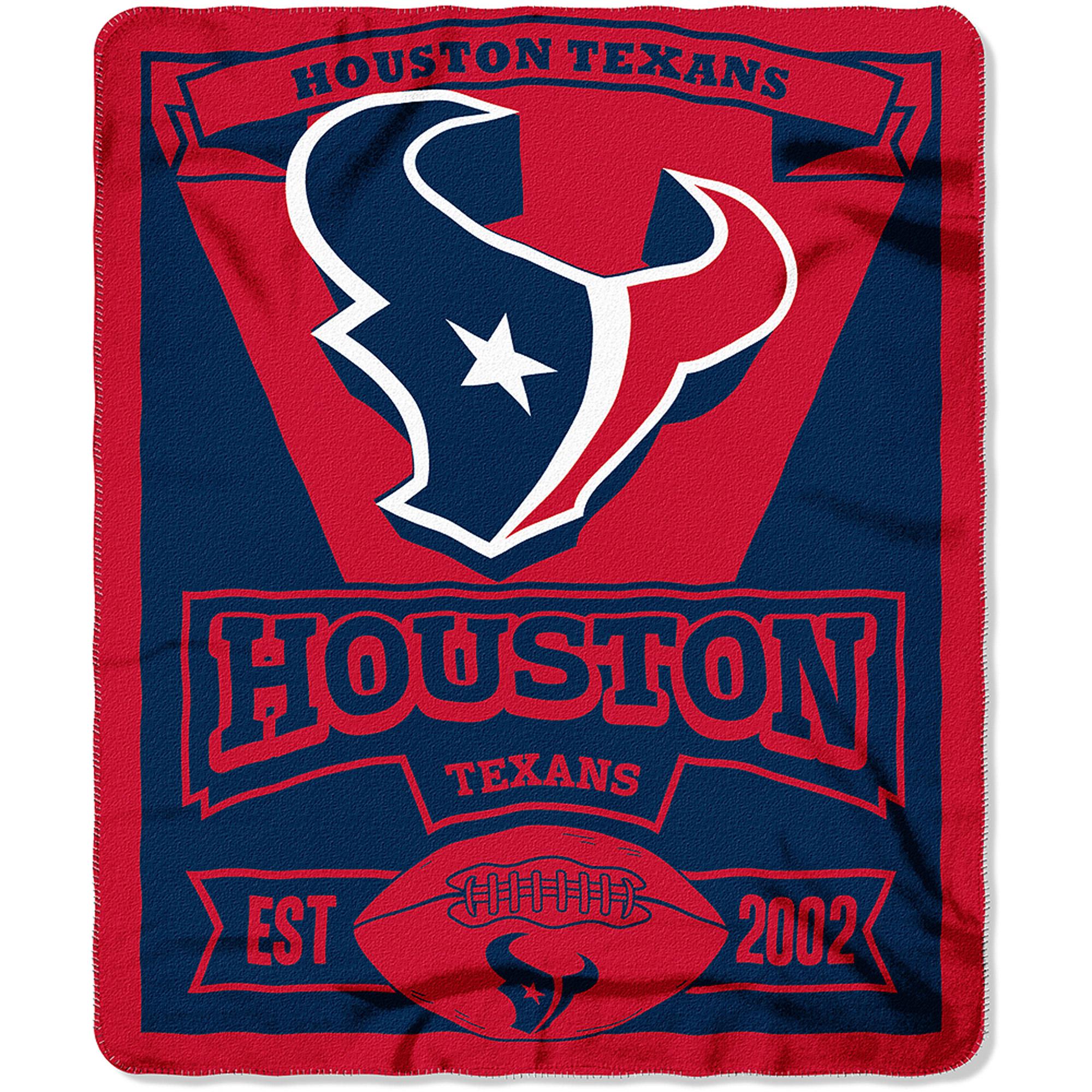 "NFL Houston Texans 50"" x 60"" Fleece Throw"
