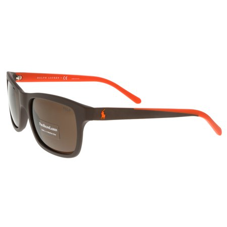 Ralph Lauren PH4095 552673 Brown Rectangle Sunglasses ()