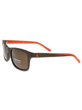 4661d67249e2 Product Image Ralph Lauren PH4095 552673 Brown Rectangle Sunglasses