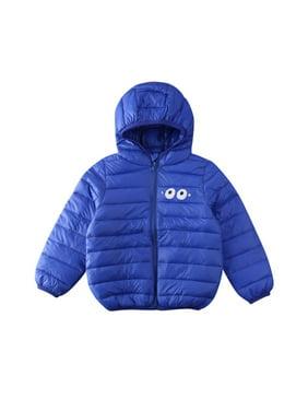 Boys Lightweight Hooded Packable Down Jacket Kids Winter Warm Puffer Bubble Coat