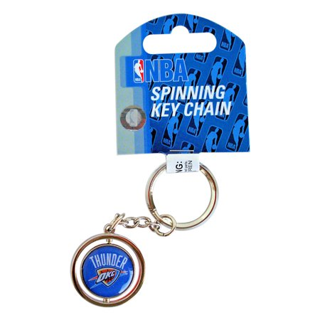 Oklahoma City Thunder 3D Basketball MBA Team Logo Spinning Key Ring Keychain