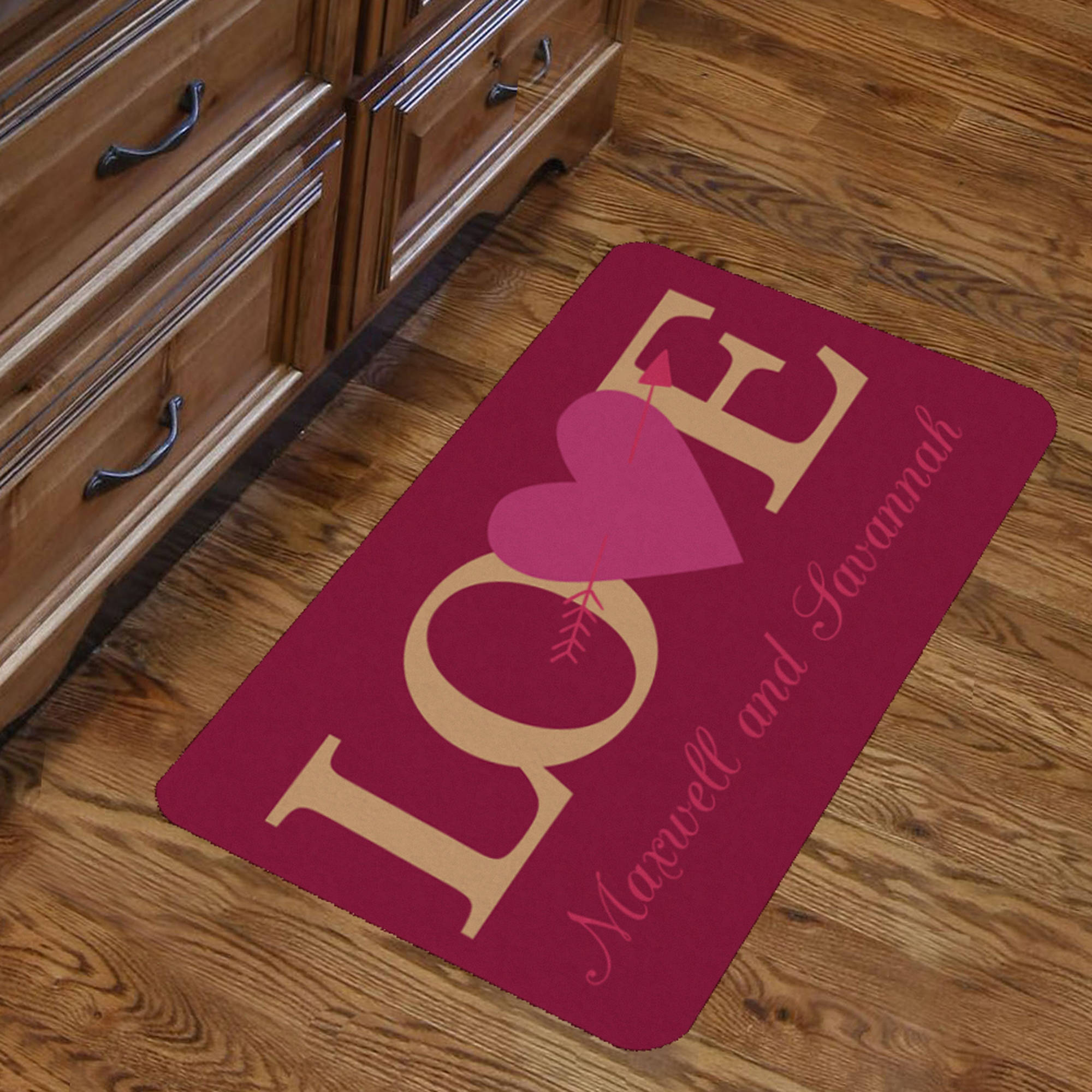 "Personalized Couples Love Indoor Floor Mat , 26.5"" x 17.5"""
