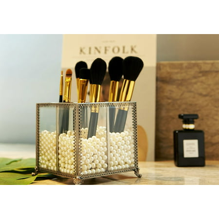 putwo makeup organizer vintage 4 sections makeup brushes