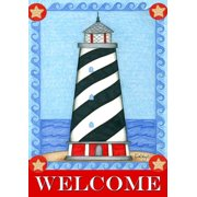 "Guiding Light Summer House Flag Welcome Lighthouse Nautical 28"" x 40"""