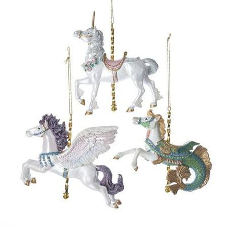 """Kurt Adler 4.75""""Resin Carousel Ornament 3/Asstd"""