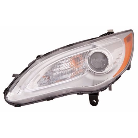 Go-Parts » 2011 - 2014 Chrysler 200 Front Headlight Headlamp Assembly Front Housing / Lens / Cover - Left (Driver) Side - (LX Sedan + Limited Convertible + Sedan + Touring Convertible +