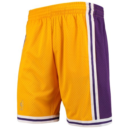 Los Angeles Lakers Mitchell & Ness Hardwood Classics Team Swingman Shorts - Gold Adidas Nba Swingman Short