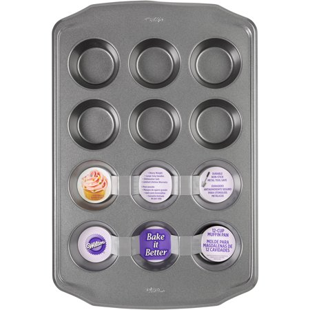 Wilton 12-Cavity Bake It Better Muffin Pan, - Cupcake Pans