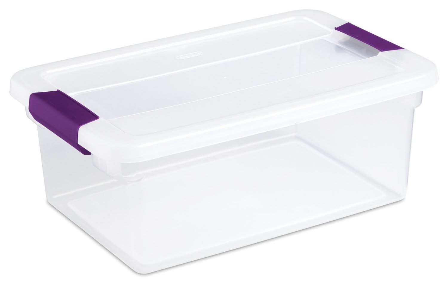 12 Pack Sterilite 15-Quart Clear Latching Storage Box Container Open Box