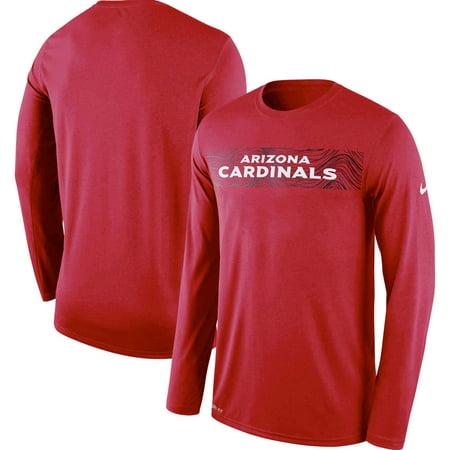 Arizona Cardinals Nike Sideline Seismic Legend Long Sleeve T-Shirt - - Cardinals Sidelines Wall