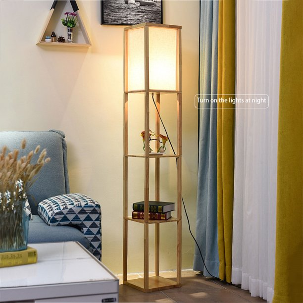 Follure Led Shelf Floor Lamp Modern Conventional Lamp For Living Room And Bedroom Walmart Com Walmart Com