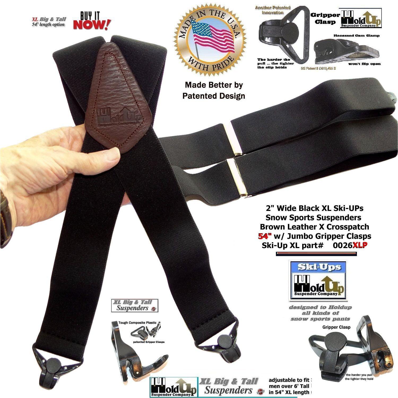 40fd53772bd Holdup Brand XL Black Snow Ski Ups Suspenders 2