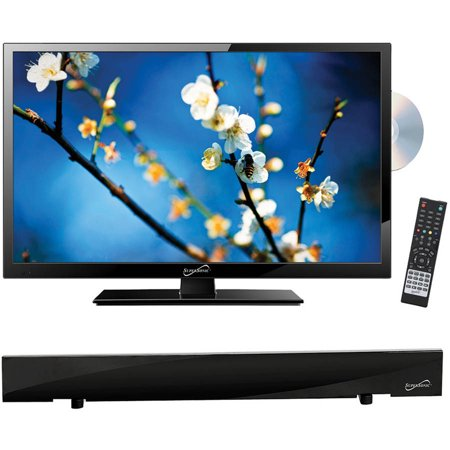 "Supersonic 22"" Class - Full HD LED TV/DVD Combo - 1080p, 60Hz (SC-2212) and SC-612 HDTV Flat Digital Antenna"